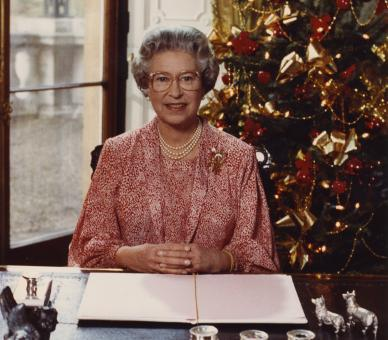 The Queen has made a Christmas Broadcast to the Commonwealth every year of her reign except 1969 © Press Association