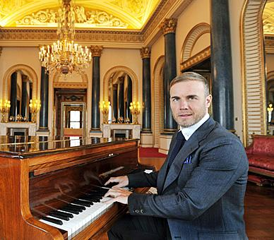 Gary Barlow at Buckingham Palace for the launch of the Diamond Jubilee concert © Press Association